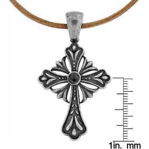 GoldnRox Stainless Steel Night Legend's Cross Pendant