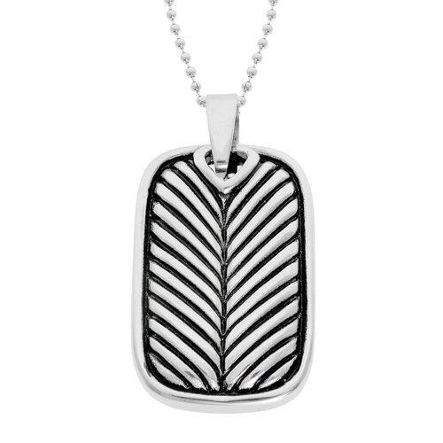 GoldnRox Stainless Steel Dog Tag Pendant