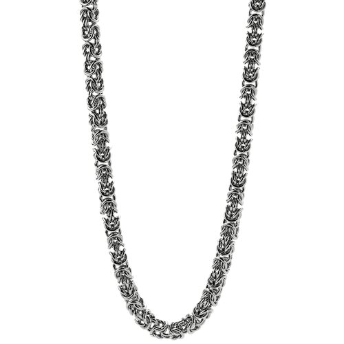 GoldnRox Stainless Steel Byzantine Chain Necklace