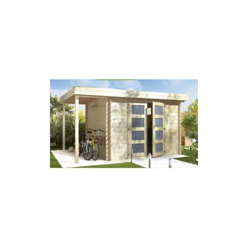 SolidBuild Moderna 13ft. W x 9.5ft. D Solid Wood Pool House and Garden Shed