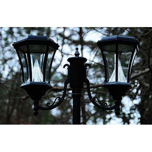Gama Sonic Victorian Solar Lamp Post and Two Nine-LED Lanterns