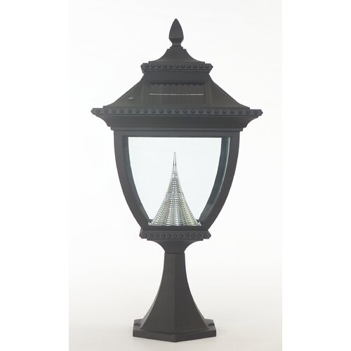GamaSonic Pagoda 1 Light Solar Post Lantern