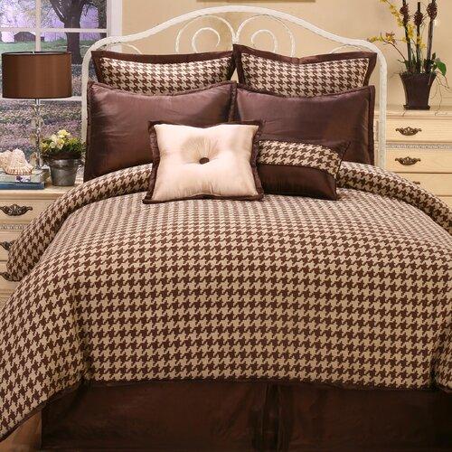Houndstooth 4 Piece King Comforter Set