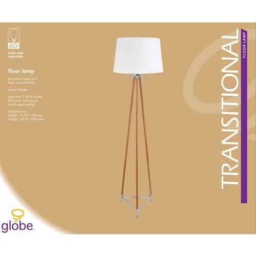 Globe Electric Company Wood 2 Light Floor Lamp