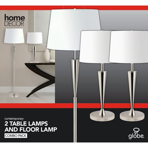 "Globe Electric Company Room Full 16.93"" H Table Lamp with Bell Shade"