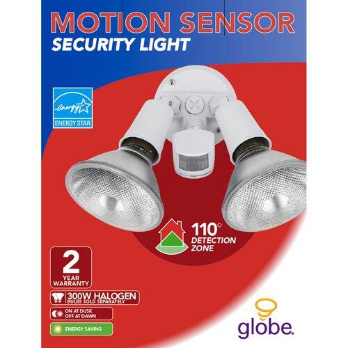 Globe Electric Company 2 Light Outdoor Security Light