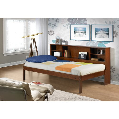 Donco Kids Cherokee Twin Slat Bed with Bookcase