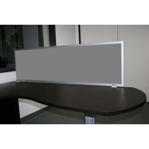 OBEX Desk Mounted Fabric Privacy Panel with Aluminum Frame