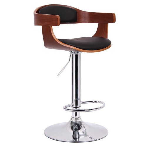 Baxton Studio Garr Adjustable Swivel Bar Stool