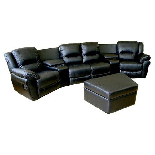 wholesale interiors viola 7 piece home theater seating reviews wayfair. Black Bedroom Furniture Sets. Home Design Ideas
