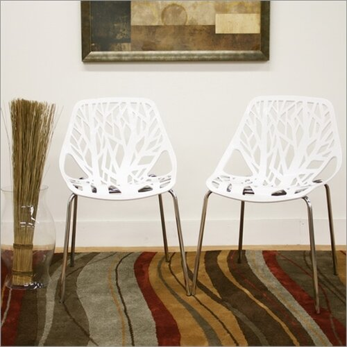 Wholesale Interiors Baxton Studio Birch Sapling Dining Chair in White