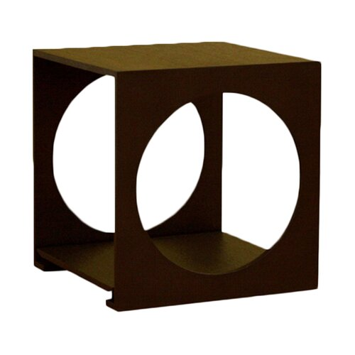 Cognac Cube End Table