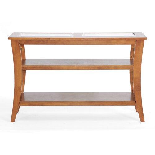 Baxton Studio Allison Honey Wood Modern Console Table