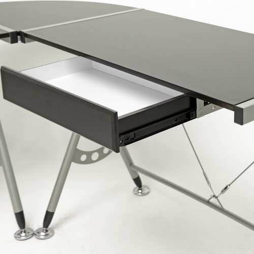 "Wholesale Interiors Baxton Studio Elburn L-Shaped Modern 58"" W x 58"" D Computer Table"