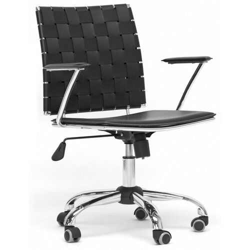 Baxton Studio Vittoria Leather Modern Office Chair