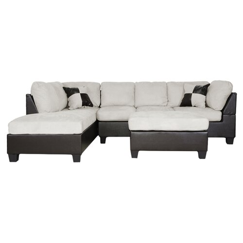 Baxton Studio Mancini Left Sectional
