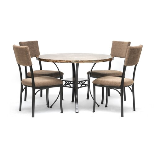 Baxton Studio Rhea 5 Piece Dining Set