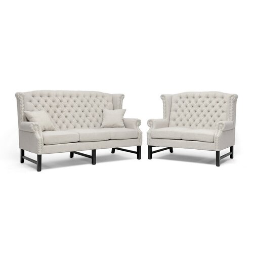 Baxton Studio Sussex Sofa Set