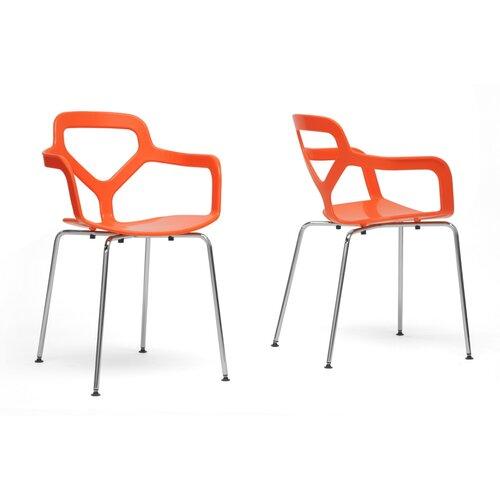Baxton Studio Miami Arm Chair (Set of 2)