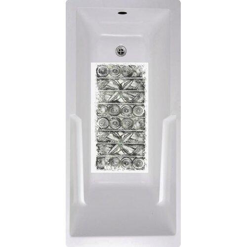 Black Tiles Bath Tub and Shower Mat