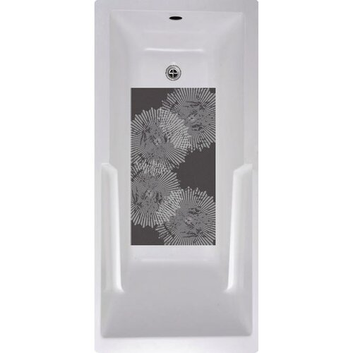 No Slip Mat by Versatraction Radial Pattern Bath Tub and Shower Mat