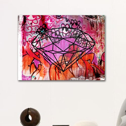 "Oliver Gal ""Rock Solid"" Graphic Art on Canvas"