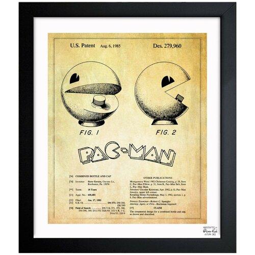 Oliver Gal Game Shaped Bottle 1985 Framed Graphic Art