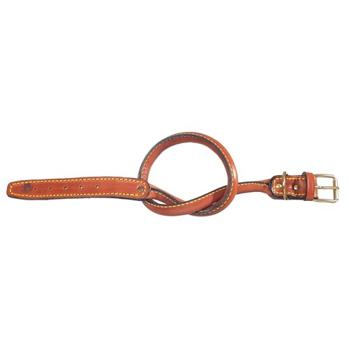 Classic Special Tubular Leather Dog Collar in Brown