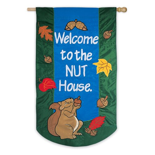 Welcome To The Nut House 2-Sided Garden Flag