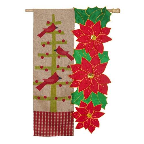 Cardinal Christmas Sab 2-Sided Vertical Flag