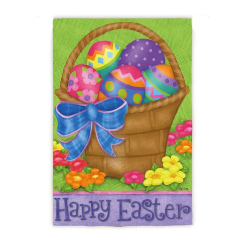 Evergreen Flag & Garden Happy Easter Basket Garden Flag