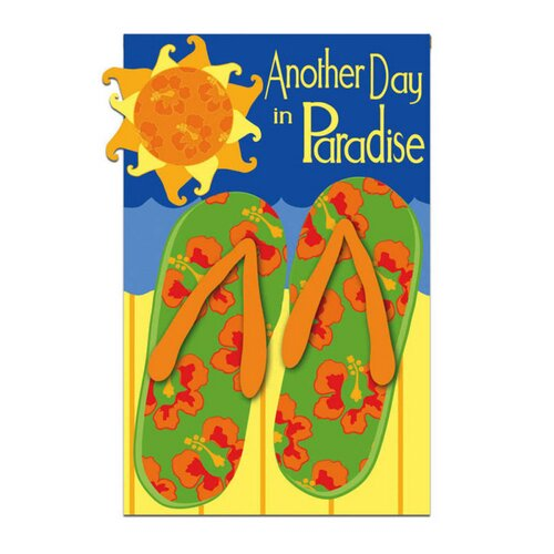 Evergreen Flag & Garden Another Day In Paradise Flip Flops Garden Flag