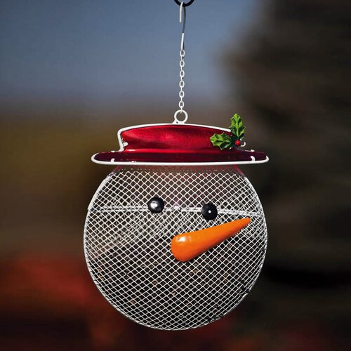 Snowman Suet/Seed Cake Decorative Bird Feeder