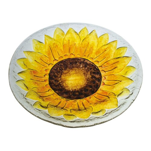 Sunflower Birdbath