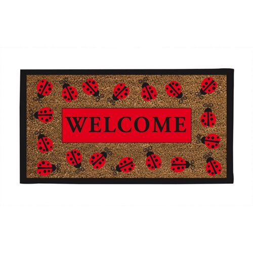 Lady Bug Welcome Mat