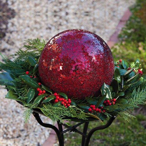 Evergreen Flag & Garden Mosaic Gazing Ball
