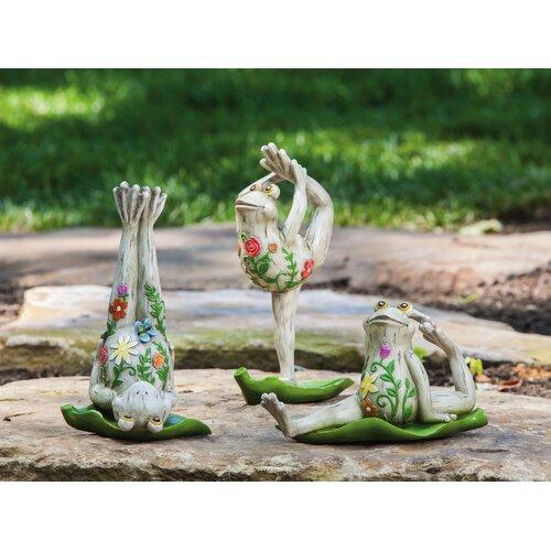 Yoga Frog Statue (Set of 3)