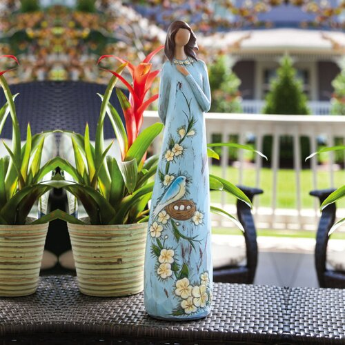 Garden Ladies and Friends Angel Blossoms Believe Statue