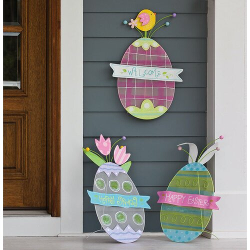 Egg Stake / Wall Décor Easter Decoration (Set of 3)