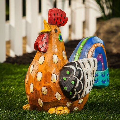 Forest Friends Gallo Estrafalario Rooster Statue