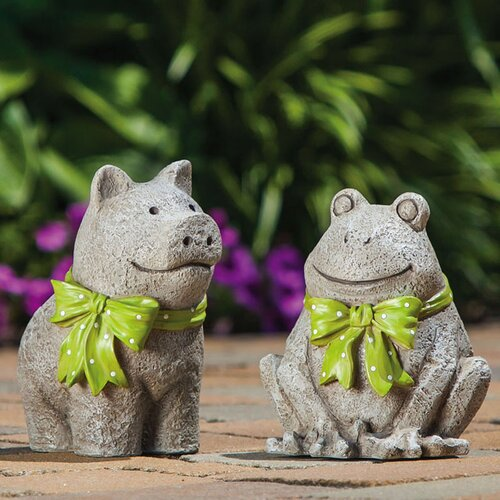 New Creative Pleasant Pals Pig and Frog Statue