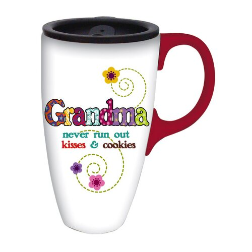 Cypress Home Grandma Kisses Latte Travel Mug