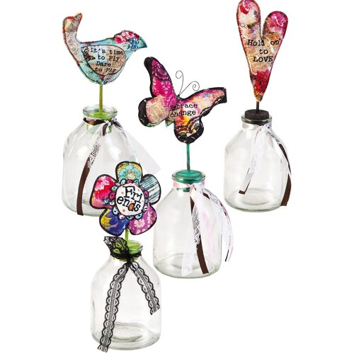 Cypress Home 4 Piece Spring Inspirations Decorative Bottle Set