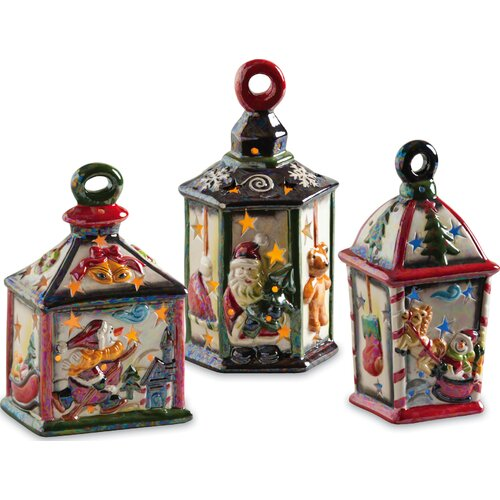 Cypress Home Holiday Lanterns Ceramic LED Decorative House