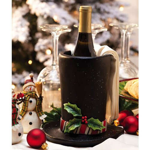 Flurries Resin Top Hat Wine Bottle Holder