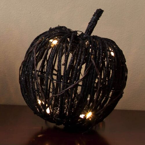 Cypress Home Rattan Pumpkin Decorative with LED Lights