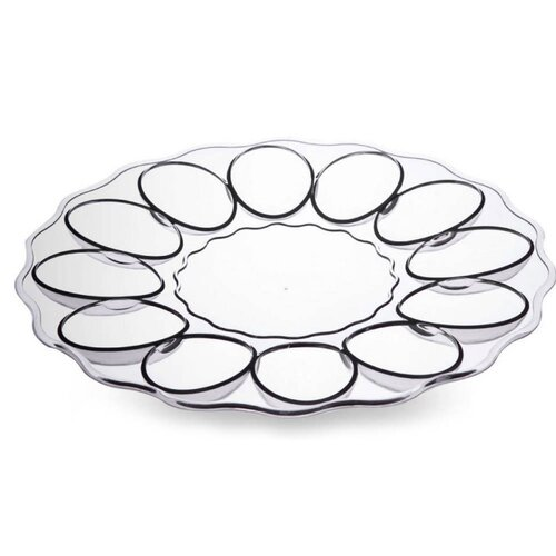 Cypress Home Acrylic Egg Platter