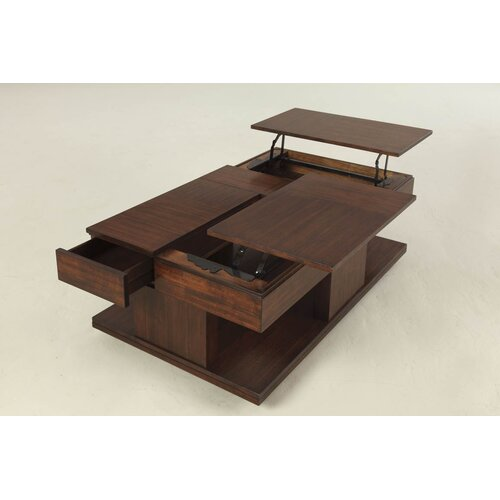 progressive furniture le mans coffee table with double