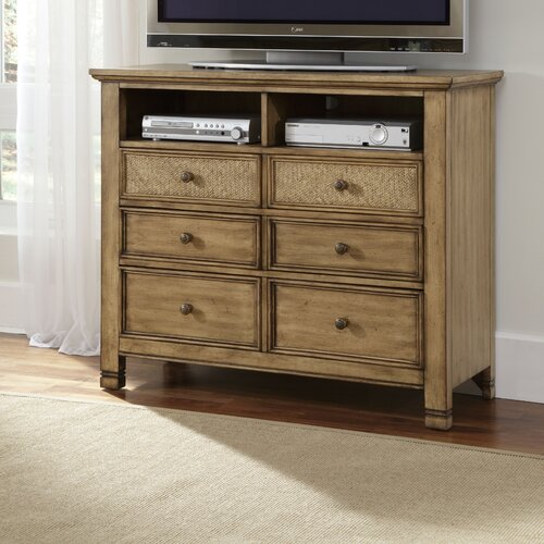 Progressive Furniture Inc. Kingston Isle 6 Drawer Media Chest