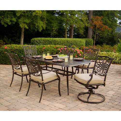 Traditions 7 Piece Dining Set w Cushions